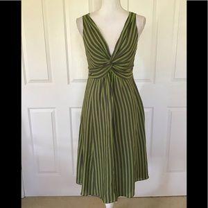 Ted Baker casual elegant silk striped dress
